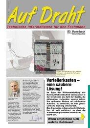 Verteilerkasten – eine saubere Lösung! - Rutenbeck