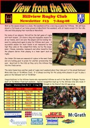 Hillview Newsletter - 13 - 2008-08-07.pub - Hillview Rugby