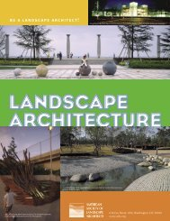 ASLA career broch 10/23/06.indd - American Society of Landscape ...