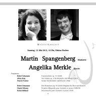Martin Spangenberg Klarinette Angelika Merkle Klavier