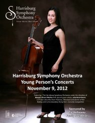Harrisburg Symphony Orchestra Young Person's Concerts ...