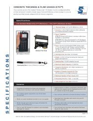 Concrete Thickness Gauges (Specifications) - Olson Instruments, Inc.