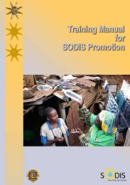 Training Manual for SODIS Promotion