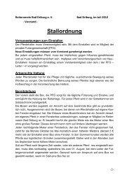 Stallordnung - Reiterverein Bad Driburg