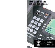 Interactive Intelligence - 390/480 Pocket User ... - Web Configurator