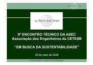 EM BUSCA DA SUSTENTABILIDADE - ASEC
