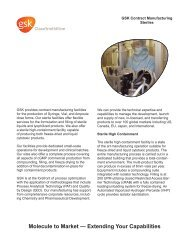 GSK Contract Manufacturing - Steriles