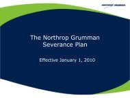 The Northrop Grumman Severance Plan - Benefits Online