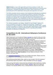 practical information/registration - EVTA
