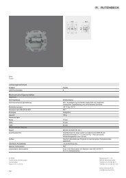 Leistungsmerkmale Mechanische Eigenschaften - Rutenbeck