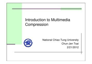 Introduction to Multimedia Compression