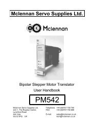 PM542 - Stepper Drive - Mclennan Servo Supplies Ltd.