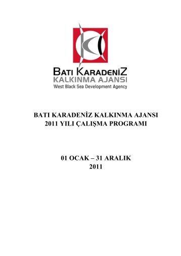 31 aralık 2011 - Batı Karadeniz Kalkınma Ajansı