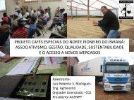 projeto cafés especiais do norte pioneiro do paraná - Abic