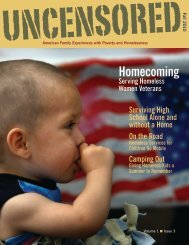 UNCENSORED, American Family Experiences with Poverty and ...