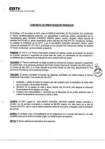CONTRATO DE PRESTACION DE SERVICIOS - CNTV
