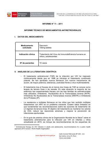 INFORME N° 11 – 2011 INFORME TÉCNICO DE ... - Digemid