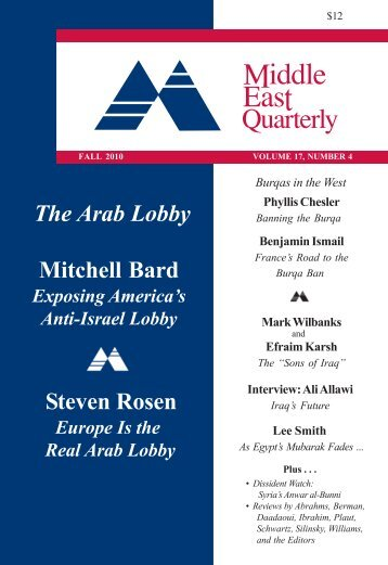 The Arab Lobby Mitchell Bard Steven Rosen - Middle East Forum