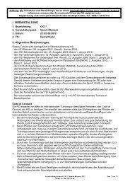 Internationale Ausschreibung (Deutsch) - RV Rhynern
