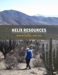 Helix ResouRces - The International Resource Journal
