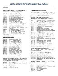 march fmwr entertainment calendar - Morale, Welfare & Recreation ...
