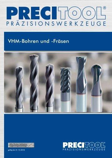 VHM-Bohren und -Fräsen - PRECITOOL CZ