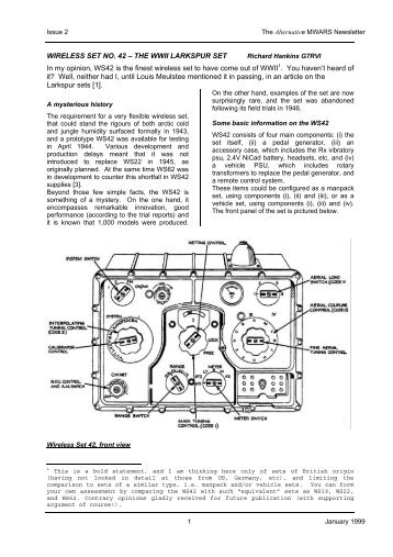 Wireless Set No. 42 - VMARSmanuals