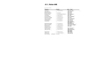 14. Springpferdeprüfung Kl. A -  Reit- und Fahrverein Avenwedde