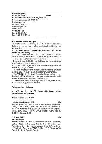 Ausschreibung-WBO-2012 - RV Rhynern