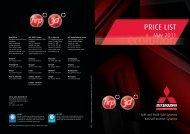 2011 Price List - EUR - Mitsubishi Heavy Industries Ltd.