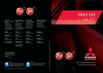 2011 Price List - EUR - Mitsubishi Heavy Industries Ltd.