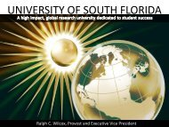 Overview of USF - Office of the Provost and Executive Vice President