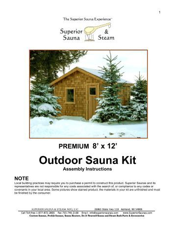 prefab sauna room kit assembly instructions superior sauna. Black Bedroom Furniture Sets. Home Design Ideas