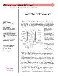 Evaporative cooler water use - University of Arizona