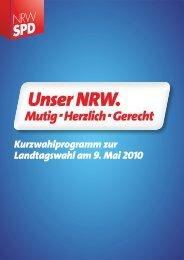 SPD KURZWAHLPROGRAMM