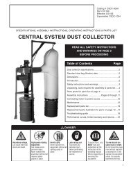 specifications, assembly instructions, operating ... - Cincinnati Fan