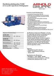 Oberflächenschleifmaschine 72/860 - Arnold Gruppe