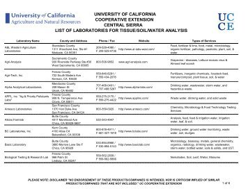 university of california cooperative extension central sierra