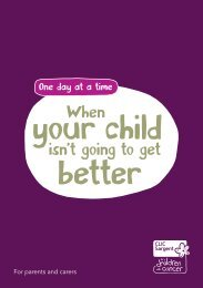 When your child isn't going to get better - CLIC Sargent