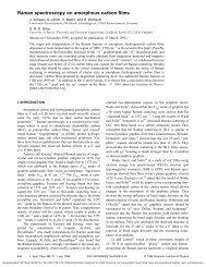Raman spectroscopy on amorphous carbon films - University of Surrey