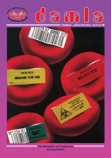 Untitled - Kan Merkezleri ve Transfüzyon Derneği