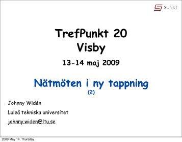 TrefPunkt 20 Visby 13-14 maj 2009