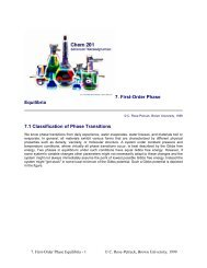 7. First-Order Phase Equilibria 7.1 Classification of Phase Transitions