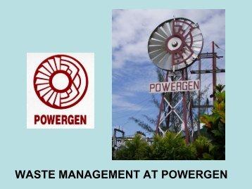 WASTE MANAGEMENT AT POWERGEN - Carilec