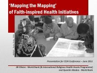 Mapping the Mapping - Christian Connections for International Health