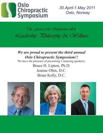 Leadership, Philosophy & Wellness - International Chiropractic ...
