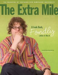 The Extra Mile - Spring 2009 - SNHU Academic Archive - Southern ...