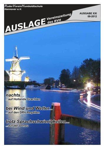 Auslage 02 2012 - RuderVerein Humboldtschule Hannover eV