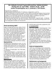 Beretning og aktiviteter 2007 - Jenle