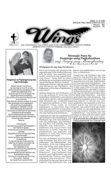 Wings Abril 12- 18, 2009.pmd - Parokya ni San Vicente Ferrer ...